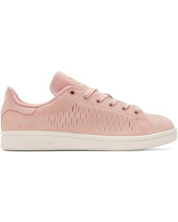 Pink Suede Stan Smith Sneakers