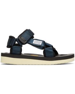 Navy Depa-v Sandals