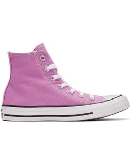 Purple Classic Chuck Taylor All Star Ox High-top Sneakers