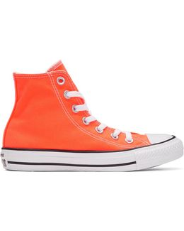 Orange Classic Chuck Taylor All Star Ox High-top Sneakers