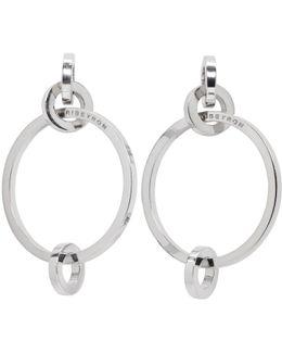 Silver 4 Circle Earrings