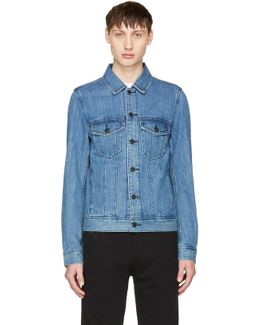 Indigo Denim D-ashton-p Jacket