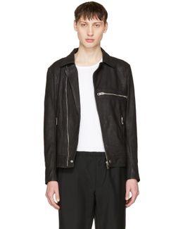 Black Leather L-hater Jacket