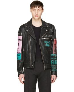Black Leather L-hater-ed Jacket