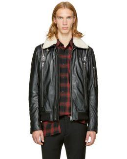 Black Leather L-feeder Jacket
