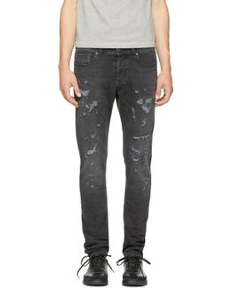 Black Destroyed Tepphar Jeans