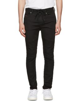 Black Bakari-ne Biker Jogg Jeans