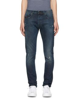 Blue Ripped Tepphar Jeans