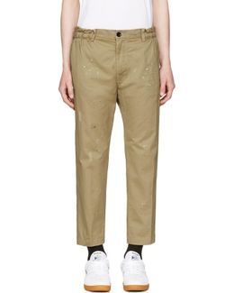 Beige P-mad Trousers