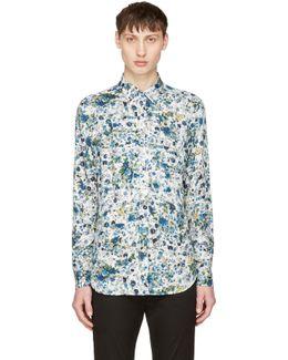 White & Blue S-nico Shirt