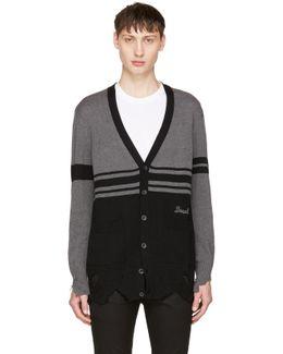 Black & Grey K-obain Cardigan