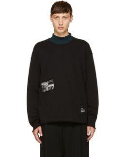 Black S-osvaldo-ls-ra Patch Sweatshirt