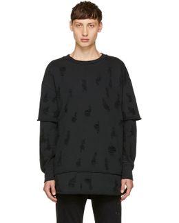 Black S-cote Swearshirt