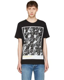 Black T-joe-qr T-shirt