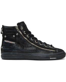 Black Expo-zip High-top Sneakers