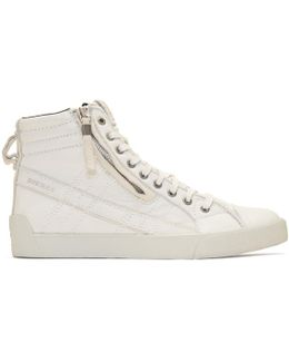 Off-white D-string Plus High-top Sneakers