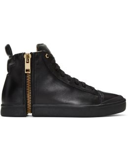 Black S-nentish High-top Sneakers