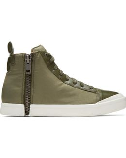 Green S-nentish High-top Sneakers