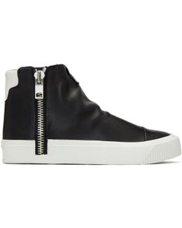 Black S-quest High-top Sneakers