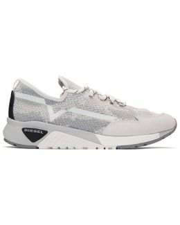 White & Grey S-kby Sneakers