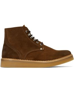 Brown D-army Lace-up Boots