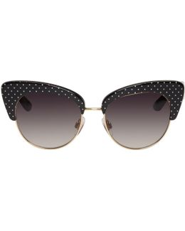 Gold & Black Cat Eye Sunglasses
