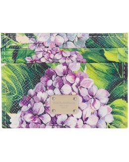 Multicolor Leather Ortensia Card Holder