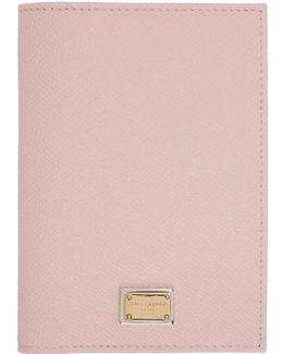 Pink Leather Passport Holder