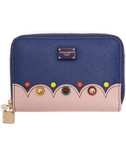 Blue Small Zip Around Wallet