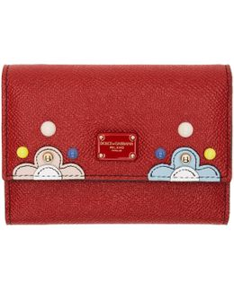 Red Small Flap Wallet