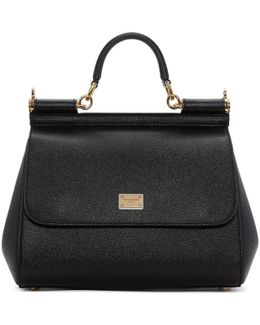 Black Large Miss Sicily Bag