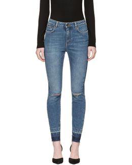 Indigo Ripped Audrey Jeans