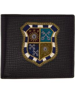 Black Crest Medal Wallet