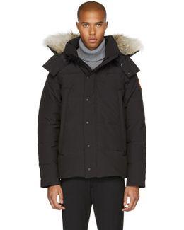 Black Down & Fur Wyndham Jacket