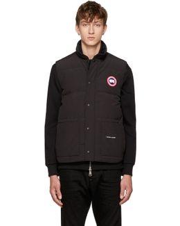 Black Down Freestyle Crew Vest