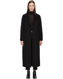 Black Wool Adriana Coat