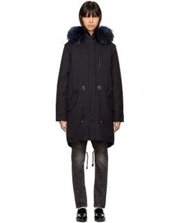 Navy Fur Rena-f Jacket