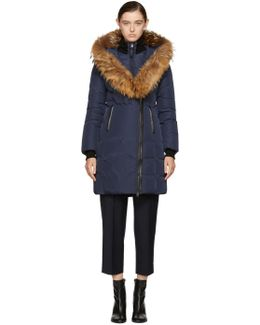 Navy Down Kay Coat