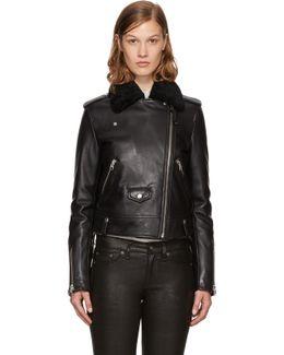 Black Leather Baya-dl Jacket
