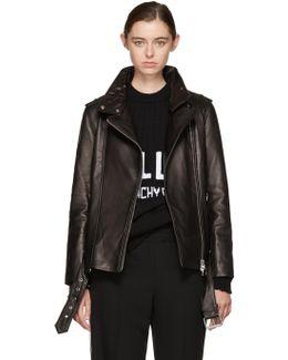 Black Leather Selenia Jacket