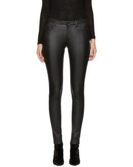Black Leather Peppa Pants