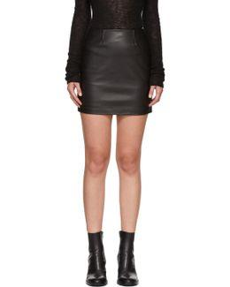 Black Leather Alva Miniskirt