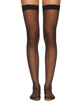 Black Individual 10 Stay-up Stockings