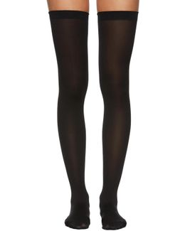 Black Fatal 80 Seamless Stay-up Stockings