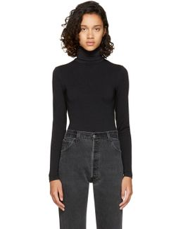Black Colorado String Turtleneck Bodysuit