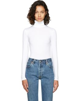 White Colorado String Turtleneck Bodysuit