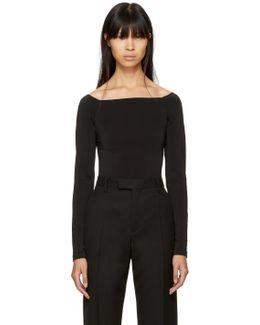 Black Sheen Light Bodysuit