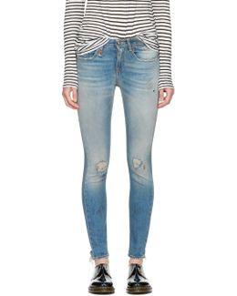 Blue Alison Skinny Crop Jeans