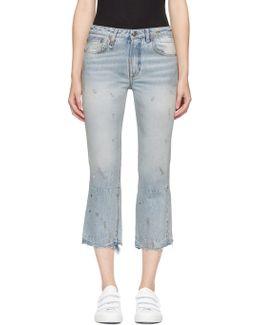 Blue Kick Fit Jeans
