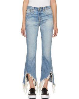 Blue Kick Fit Long Jeans